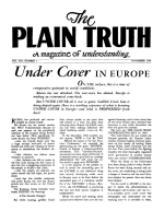 Where Does The Money Go? Plain Truth Magazine November 1949 Volume: Vol XIV, No.3 Issue: