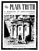 Are Christians Again to Be MARTYRED? Plain Truth Magazine November 1956 Volume: Vol XXI, No.11 Issue: