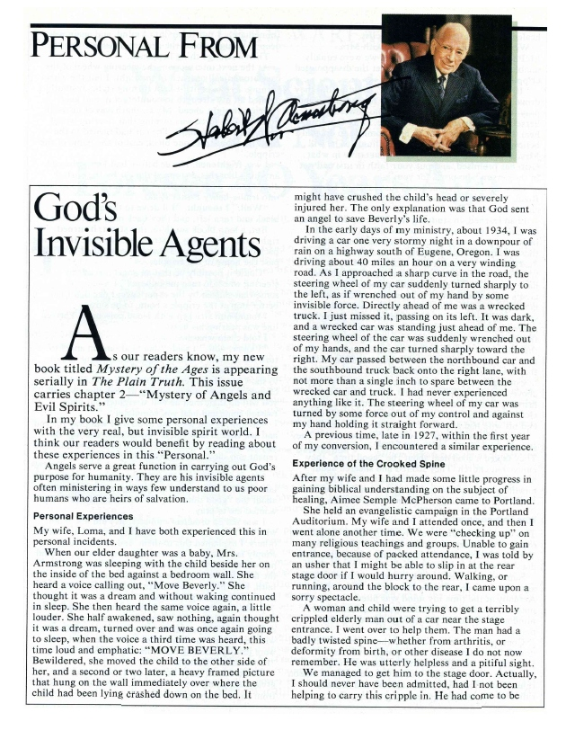 God's Invisible Agents