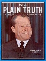 The Answers to Short Questions from Our Readers Plain Truth Magazine December 1969 Volume: Vol XXXIV, No.12 Issue:
