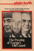 The Passing of Europe's Old Guard Plain Truth Magazine December 1975 Volume: Vol XL, No.20 Issue: