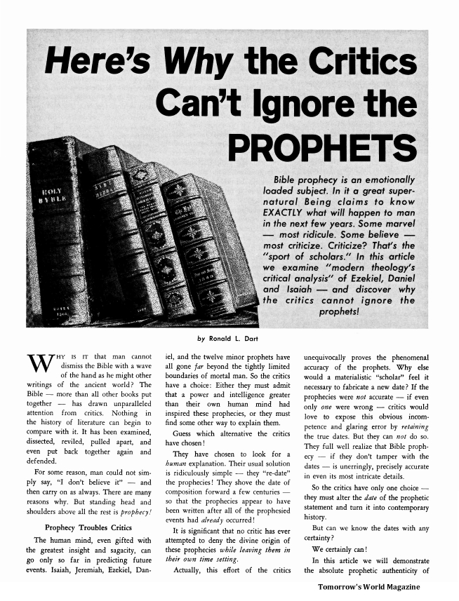 Here's Why the Critics Can't Ignore the Prophets
