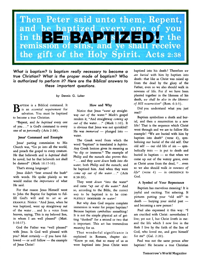 Be Baptized!