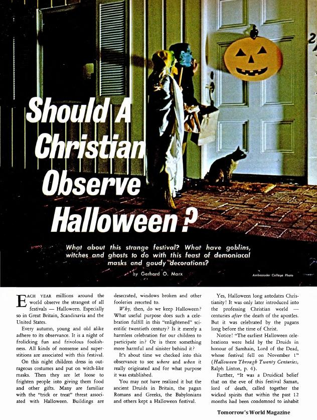 Should A Christian Observe Halloween?