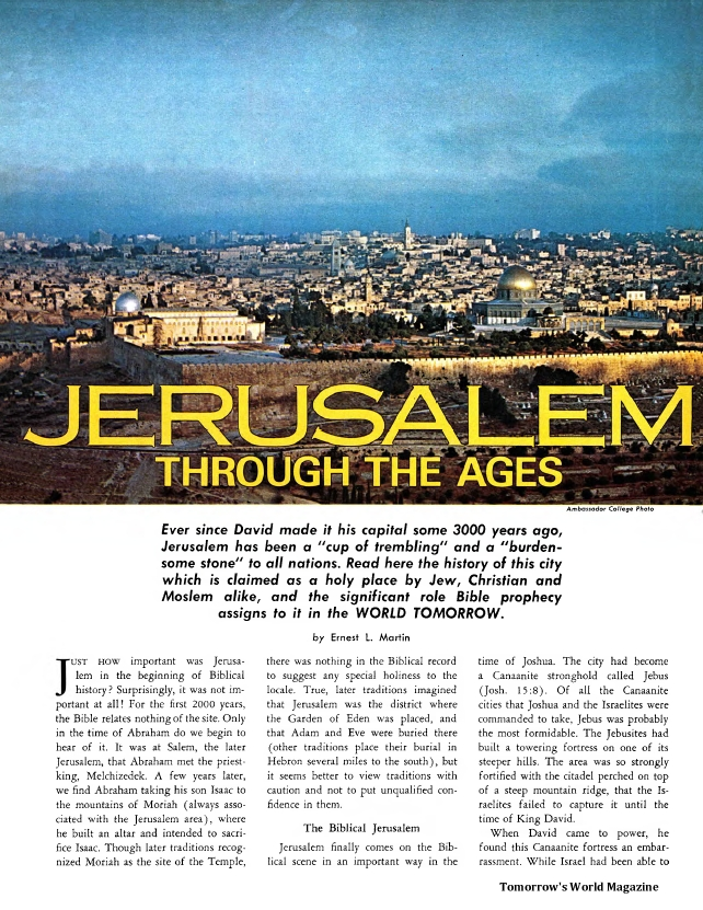 Jerusalem Through The Ages