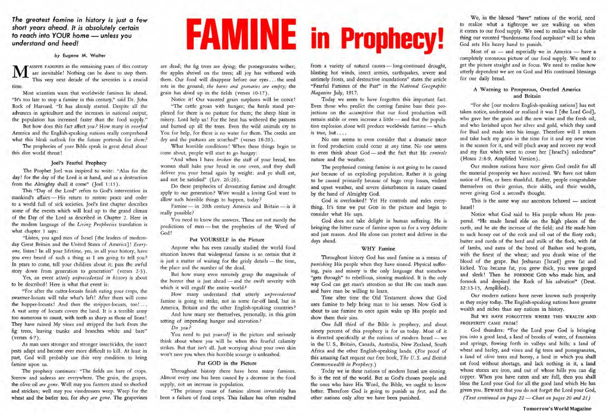 Famine in Prophecy!