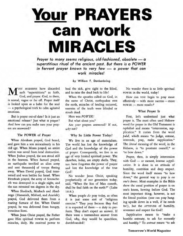 Your Prayers Can Work Miracles