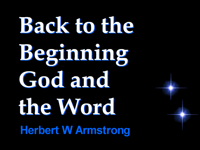 Back to the Beginning, God and the Word
