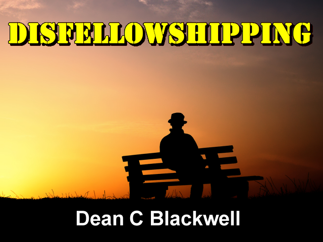 an analysis of disfellowshipping in the church I would support, however, the disfellowshipping of a non-trinitarian for behavior  endangering the mission of the church by such means as.