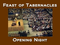 Listen to  Feast of Tabernacles - Opening Night Service