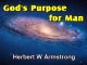 God's Purpose for Man