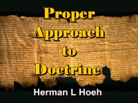 Listen to  Proper Approach to Doctrine