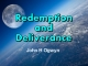 Redemption and Deliverance