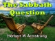 The Sabbath Question