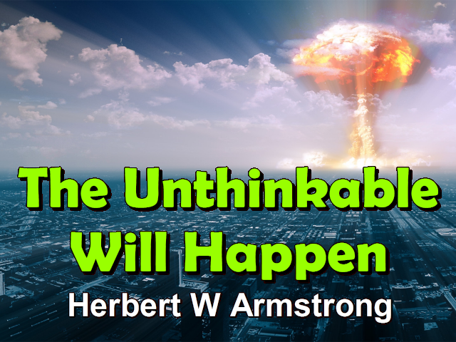 The Unthinkable Will Happen