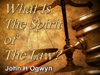 Listen to  What Is The Spirit of The Law?