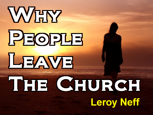 Why People Leave The Church
