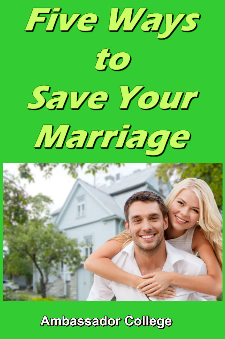 Five Ways to Save Your Marriage