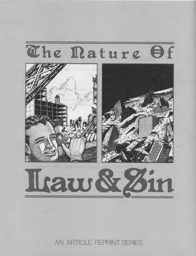The Nature Of Law & Sin