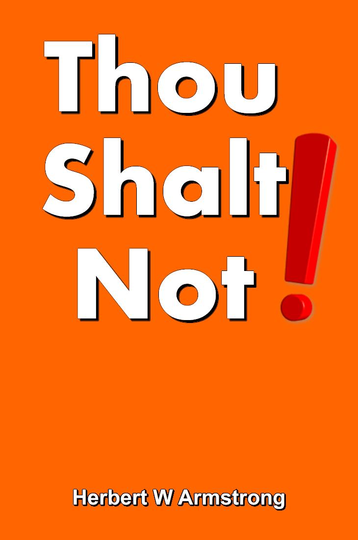 Thou Shalt Not!