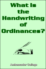 What Is The Handwriting of Ordinances?