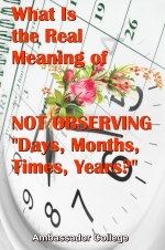 What Is the Real Meaning of NOT OBSERVING