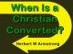 When Is a Christian Converted?