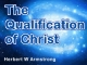 The Qualification of Christ