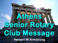 Watch  Athens Senior Rotary Club Message