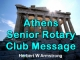 Athens Senior Rotary Club Message