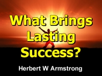 Watch  What Brings Lasting Success?