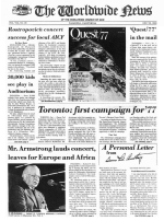 Worldwide News February 14, 1977 Headlines
