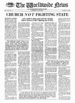 Church Not Fighting State